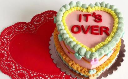cake over iéage gateau en forme de coeur